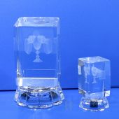 "Crystal First Communion Favors 3"" High 4C015L"