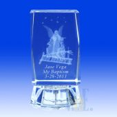 "3D Crystal Guardian Angel Favors 3"" High 4C017L"