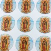 Our Lady Of Guadalupe Round Stickers  CR046L-1(12 stickers)