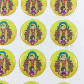 La Virgen De Guadalupe CR046L-4(12 stickers)