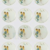 Wedding Design Stickers CR046W(12 stickers)