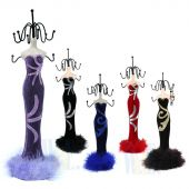 "Velvet Gown Jewelry Stand D613L 15""H"