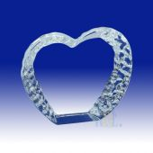 Crystal Iceberg Heart Award HL034