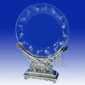 Crystal Dish with Silver stand HL035