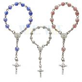 One Decade Rosebud Bead Rosary JA164