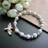 Angel Wing Cross Charm Bracelet JA227