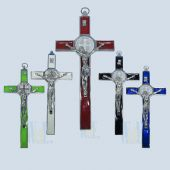 Saint Benedict Wall Crucifix JE04L