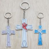 Holy Spirit Cross Key Chain JK056