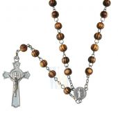 St. Benedict Wooden Rosary JN131A