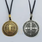 Large St. Benedict Medal Necklace JN280