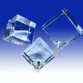 3D Square Crystal Cube HL016 (Size: Small)