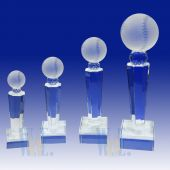 Crystal Baseball Trophy TH117 (Size: Small)
