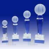 Crystal Basketball Trophy TH117 (Size: Small)