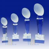Crystal Football Trophy TH117 (Size: Small)