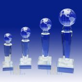 Crystal Globe Trophy TH117 (Size: Small)