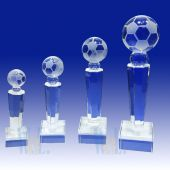 Crystal Soccer Trophy TH117 (Size: Small)