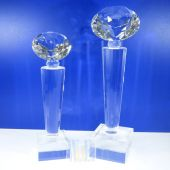 Crystal Diamond Trophy TH025 Clear (Size: Small)