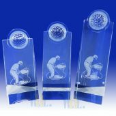 Crystal Golf Tower Plaque TH051 (Size: Small)