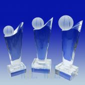 Crystal Basketball Trophy TH075 (Size: Small)