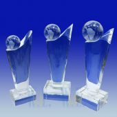 Crystal Globe Trophy TH075 (Size: Small)
