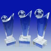 Crystal Soccer Trophy TH075 (Size: Small)