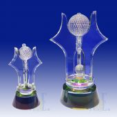 Crystal Golf Trophy TH081 (Size: Small)