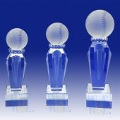 Crystal  Baseball Trophy TH084 (Size: Small)