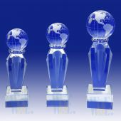Solid Crystal  Globe Trophy TH084 (Size: Small)