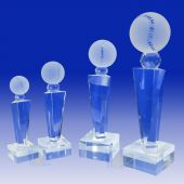Crystal Baseball Trophy TH118 (Size: Small)