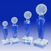 Crystal Basketball Trophy TH118 (Size: Small)