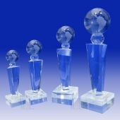 Crystal Globe Trophy TH118 (Size: Small)