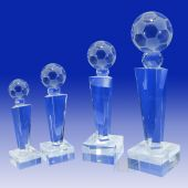 Crystal Soccer Ball Trophy TH118 (Size: Small)