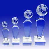 Crystal Soccer Trophy TH119 (Size: Small)